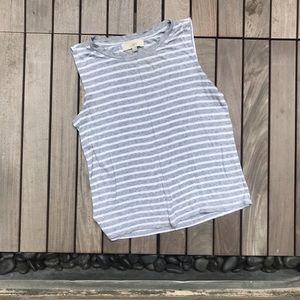 Loft | Grey & White Sleeveless Top